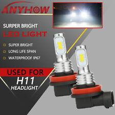 ANYHOW H11 LED Headlight Super Bright 2x Bulbs Kit HIGH/LOW Beam 6000K Fog Lamp