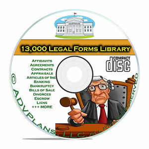 13,000 + Legal Forms Library, Printable, Editable Personal Business Loans CD B61