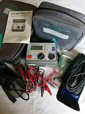 Kewtech KT62 Test Meter Digital Loop, PSC, RCD, Insulation/Continuity Tester
