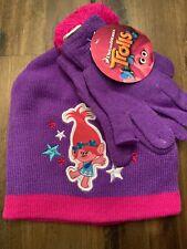 Winter  hat beanie and gloves set Trolls Poppy girls one size