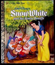 DISNEY'S SNOW WHITE & SEVEN DWARFS ~ 1980's Children's Little Golden Book
