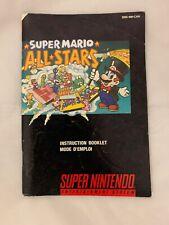 Super Mario All Stars - Instruction Manual Super Nintendo, SNES French/English