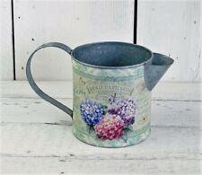 Shabby Floral Metal Jug Country Vintage Hydrangea Flower Vase Wedding Decoration