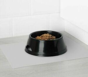 IKEA LURVIG Pet Placemat 11x14 Quality Gray Textured Waterproof Food Bowl Mat