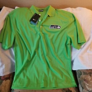 SEATTLE SEAHAWKS POLO SHIRT - LARGE - NIKE GOLF - NWT