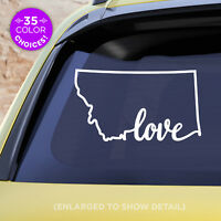 "Montana State ""Love"" Decal - MT Love Car Vinyl Sticker - Add a heart over a city"