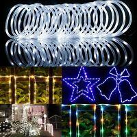 39FT 100LEDS Solar Rope Tube Fairy Lights LED String Waterproof Outdoor Garden