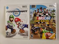 Lot of 2 Wii Mario Kart & NASCAR KART RACING EUC