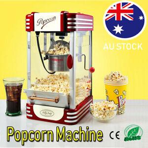 Electric Popcorn Machine Cinema Commercial Popcorn Maker Popper Popping Cooker