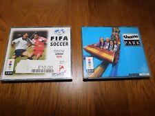 Jeux 3D0-FIFA International Soccer et Theme Park-Coffret complet