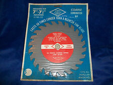 "Vintage 7'-7 1/4'"" Lifetime Carbide Saws New In Box Coarse Combination"
