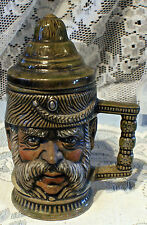 New listing Handsome Hand Painted Hussar Man Character Ceramic Toby Mug With Lid