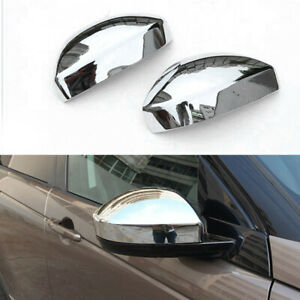 Chrome Rearview Mirror Cover Caps Trim For Land Rover Discovery Sport 2016-2018