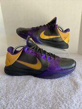 """Men's Nike Zoom Kobe 5 V """"Lakers"""" Away 386429-071 SIZE 9.5"""