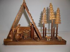 Vintage Wood Musical NATIVITY Plays SILENT NIGHT