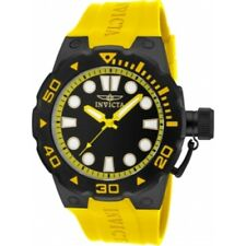 Invicta 16138 Pro Diver Master of the Ocean Yellow Polyurethane Strap Mens Watch