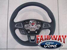15 thru 17 Focus ST OEM Ford No Heat Steering Wheel w/ Blue Stitching - RS Model