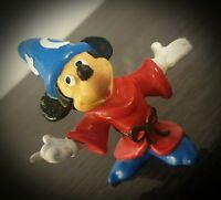 Vintage Hand Painted Mickey Mouse Fantasia Small Figure Disney Bully Land Rare