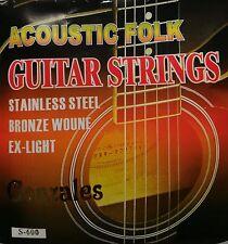 Corde GONZALES S-600 per chitarra acustica folk Stainless Steel Bronze Wound