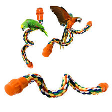 New listing Colorful Bird Rope Perch Braided Swing Perch for Parrot Finch Macaw Cockato