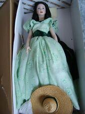 Doll porcelain, pop Franklin Mint, Scarlett  poupée , künstlerpuppe