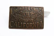 Vintage Belt Buckle Union Central Pacific Railroad Omaha To California