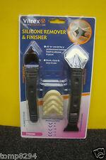 VITREX SILICONE REMOVER & FINISHER KIT FOR KITCHENS BATHS SHOWERS ETC SRF005