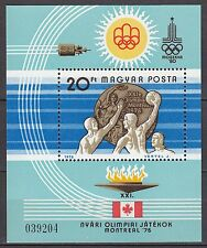 HUNGARY 1976 **MNH SC# 2457 S/S  Summer Olympic Games - Montreal -