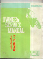 Suzuki RM250-M (1991) Genuine Factory Shop Repair Service Manual RM 250 M CA07
