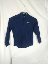Shell Logo Gas Oil Co Long Sleeve Uniform Dress Shirt Cotton L Men's blue