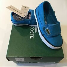 Lacoste Marice Blue UK5 EU21 Infant Pumps BNWT Baby Boys Trainers Shoes RRP £32