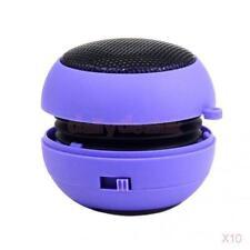 10x Mini Burger Boombox USB PC Dedicated Subwoofer Rechargeable Speaker Purple