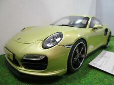 PORSCHE 911 type 991 TURBO gold au 1/18 GT SPIRIT GT041 voiture miniature