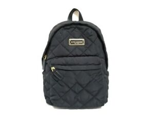Auth MARC JACOBS M0011321 Black Polyester Polyurethane Backpack
