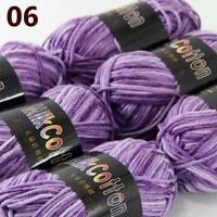 AIP New 6Skeinsx50g Soft DK Baby Cotton Crochet Yarn Hand Wool Scarf Knitting 06