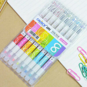 CHoSCH 8 Colors Super Dual Diamond Gel Pen And Bright Highlighter, Markers