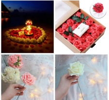 50 Pcs 1 Box Preserved Flowers Immortal Rose Flower Mothers Day Gift Flowers
