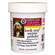 Gimborn Kwik Stop Bleeding Styptic Powder Grooming Groomers DOG CAT BIRD 1.5 oz