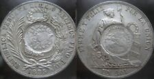 GUATEMALA IMPORTANT AUCTION START 1 $ : 1885 1 PESO counterstamp PERU 1 SOL