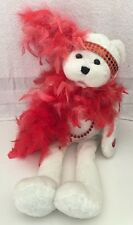 """Chantilly Lane Musical 18"""" Roxie Bear w/Boa """"I Wanna Be Loved by You"""" Valentine"""