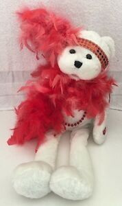 "Chantilly Lane Musical 18"" Roxie Bear w/Boa ""I Wanna Be Loved by You"" Valentine"