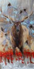 Amy Lay The Stag and the Steller's Jays Signed Giclee on Canvas