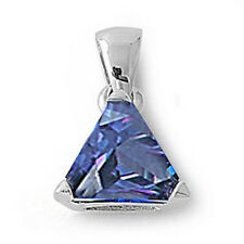 Trillion Cut Tanzanite .925 Sterling Silver Pendant