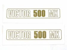 2 decal set BSA Victor 500 MX peel and stick vinyl die-cut sidecover logo
