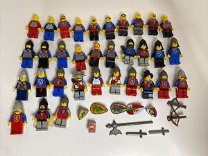 Vintage Lego Castle Knights 43 Minifigure Lot w/ Weapons Helmets 1970s 1980s