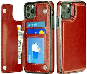 iPhone Case 7 8 X XR 11 12 Max Wallet Card Holder Leather Flip Cover for Apple