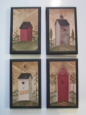 Outhouses Country Bath Wall Decor Pictures primitve pictures moon star bathroom
