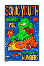 Uncle Charlie - 1995 - Sonic Youth Concert Poster Unwound, Polvo Houston TX