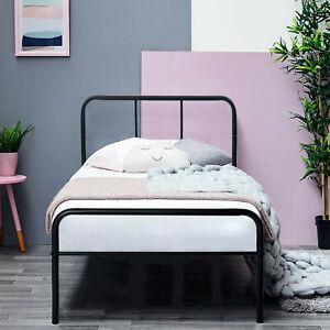 3ft Single Metal Bed Frame Modern Stylish Bedstead Study For Kids Adult Guest