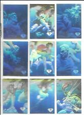 1996 SKYBOX SUPERMAN HOLOSERIES NEAR SET + 2 CHASE CARDS H1, H4 HOLOGRAMS